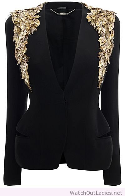 McQ black gold blazer