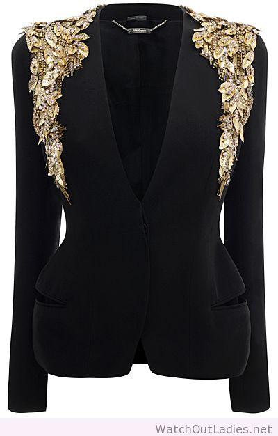 McQ black gold blazer