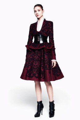 McQ red black suit
