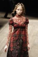 McQ tartan and lace