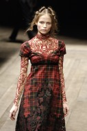 McQ tartan and lace