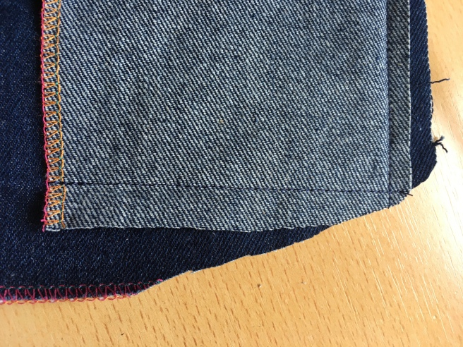 trim excess fabric