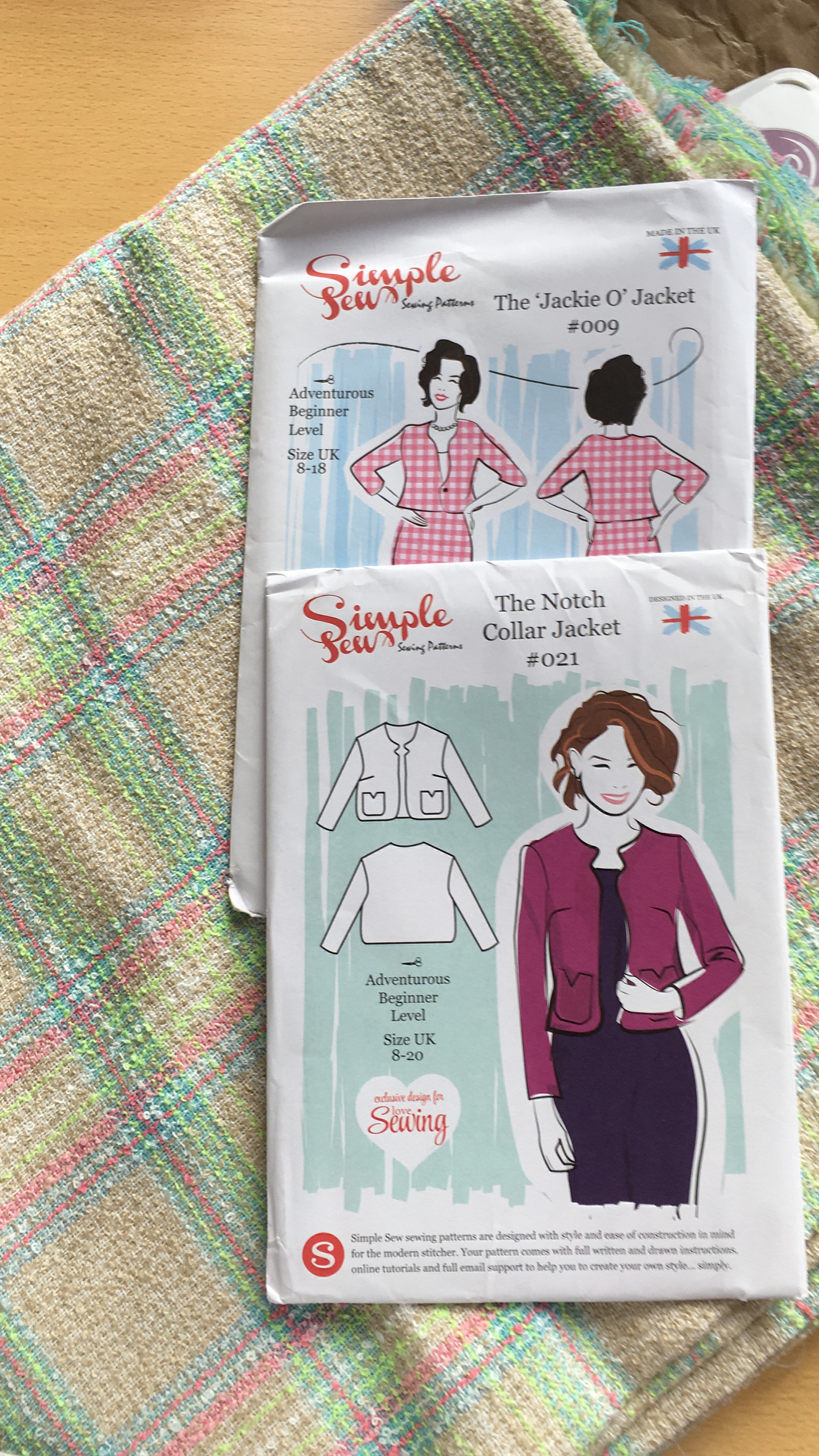 Womens ADVENTUROUS BEGINNER The Jackie O Jacket UK SIZE 8-18 Sewing Pattern